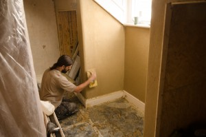 clay plasters applied to loft conversion